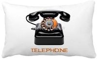 30cmx50cm Vintage Telephone Print Custom Home Decor Throw Pillow almofadas decorate pillow sofa chair cushion