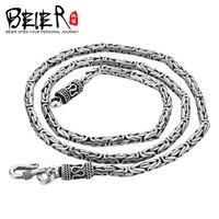 Байер новый магазин 100% 925 стерлингового серебра ожерелья подвески модный Fine Jewelry цепи ожерелье для женщин/мужчин BR925XL046