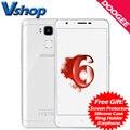 Original doogee y6 piano blanco 4g teléfono móvil android 6.0 4 gb ram 64 GB ROM Octa Core 13.0MP Cámara de Doble SIM 5.5 pulgadas Del Teléfono Celular