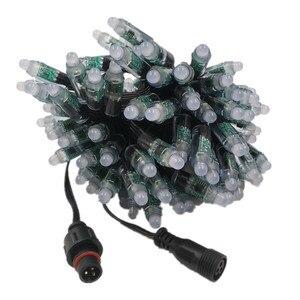 Светодиодный модуль ws2811 ws2811, 12 В, 12 мм, 50 точек/струн, цифровой rgb, полный цвет, Водонепроницаемая ip68 светодиодная нить для букв, знак