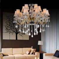 Modern Luxury Chandelier Living Room Lights Stair K9 Crystal Lamp Led Spiral Crystal Chandelier Restaurant Lights