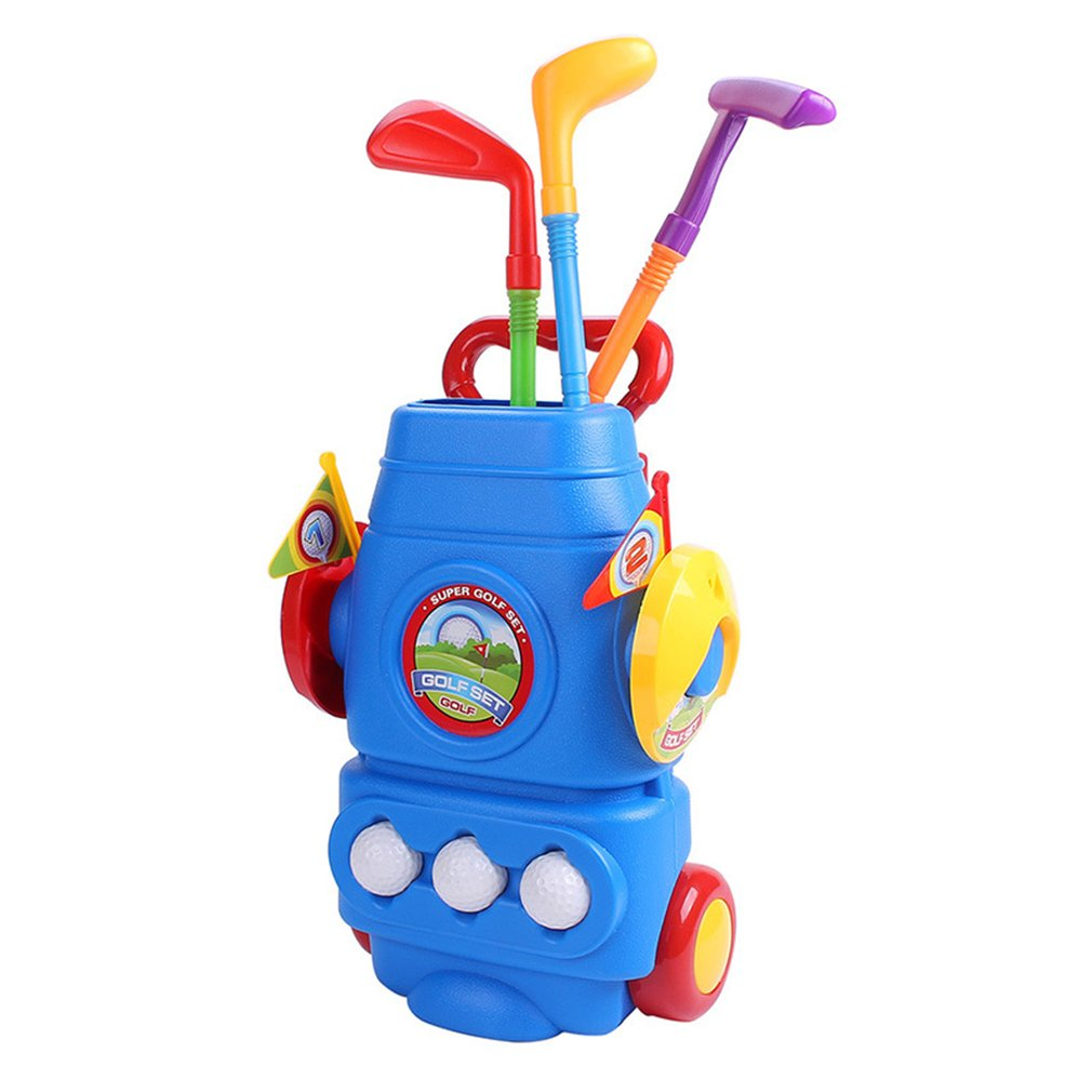 Golf Toy Set With Three Balls Sports Colourful Developmental Toys Perfect Outdoor Play Golfer a Gift To Children