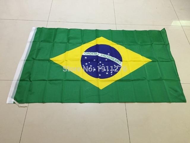 """ברזיל הדגל הלאומי 4ft x6 רגל תליית דגל פוליאסטר ברזיל הדגל חיצוני מקורה 120 x 180 ס""""מ דגל גדול עבור חגיגה"""