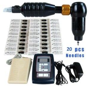 Image 3 - Permanent Makeup Tattoo Kits   Digital Tattoo Pen Machine + Tattoo Supply + Foot Pedal + 20 Needles For Eyebrow Lips Tattoo