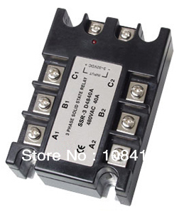 цена на 5PCS/LOT Three Phase SSR Solid State Relay Input Control Voltage 3-32V DC,Output Load 480V AC 25A
