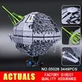 NUEVA LEPIN 05026 Star Wars Estrella de La Muerte La segunda generación 3449 unids Juguetes de Bloques de Construcción Ladrillos Compatible 10143 Regalos de Navidad