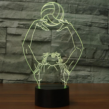 купить Home Bedroom Lighting Decor 3D LED Night Lights 7 Color Changing Volleyball Toss Modelling Table Lamp Kids Birthday Sleep Gifts дешево
