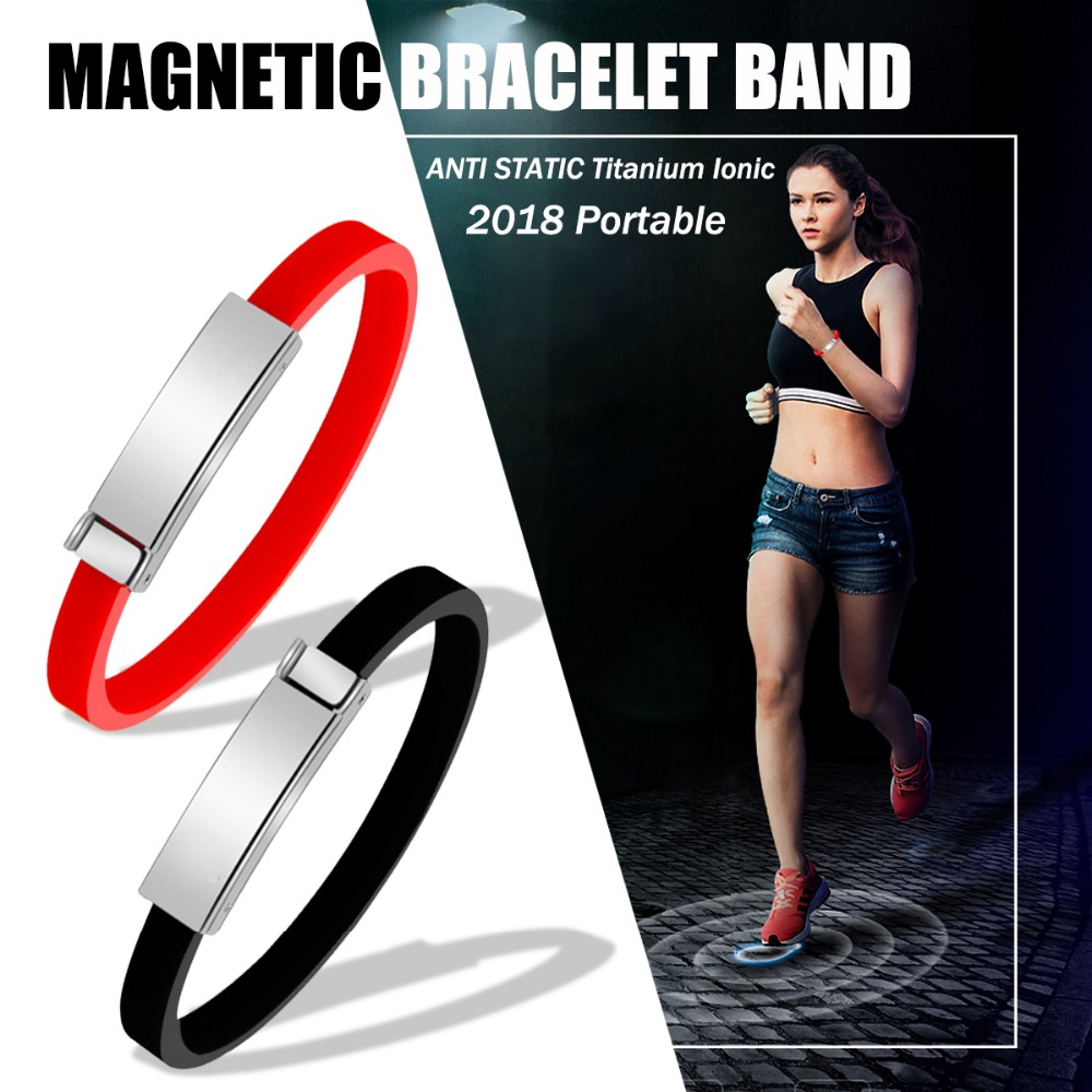 Cordless Anti Static Strap Bracelet Magnetic Silicone Wristband for Fitness Wrist Brace Men Woman Protect Body