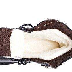 Zapatos de invierno de lana Natural para hombre, los zapatos de invierno más cálidos de cuero genuino hechos a mano para hombre, botas de nieve de invierno de estilo Ruso, zapatos de motocicleta