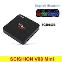 Scishion V88 мини Умные телевизоры Box Android 6.0 rk3229 4 ядра 4 К 1 ГБ Оперативная память 8 ГБ Встроенная память комплект- top Box rk3229 H.265 32 бита Комплект Топ ТВ