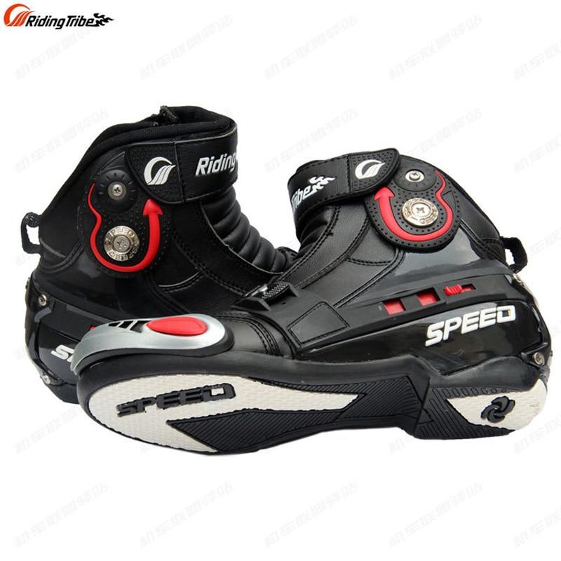 купить Riding Tribe Microfiber Leather Motorcycle Boots Waterproof Breathable Speed Moto Protector Motocross Motorbike Boots Shoes по цене 3907.02 рублей