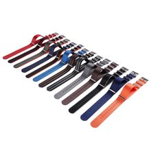 Grosir 14 Warna Nilon Watchband NATO Zulu Strap 20 Mm 22 Mm Bergaris Rainbow Kanvas Pengganti(China)