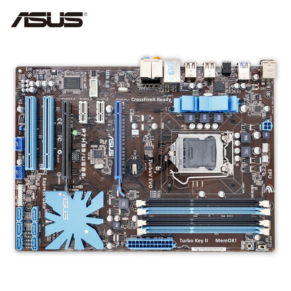 Asus P7H55 USB3 Original Used Desktop Motherboard P7H55 USB3 H55 Socket LGA 1156 i3 i5 i7