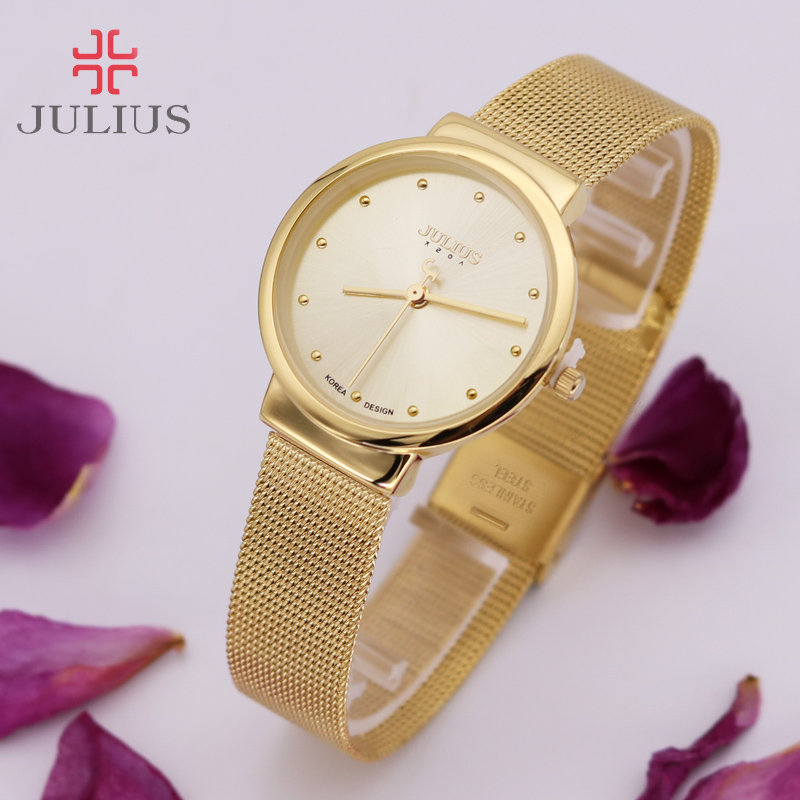 Thin Classic Lady Women's Watch Japan Quartz Girl Hours Fine Fashion Clock Bracelet Stainless Steel Girl Lover's Gift Julius Box гл 172 фигурка кот икра цв гжельский фарфор