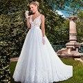 CasamentoBall alta Qualidade Do Vintage Vestido Sem Mangas Lace Vestidos de Casamento 2016 Sexy Branco vestido de Noiva Vestido De Noiva