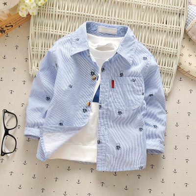 Baby shirt 0-3y boys girls infants clothes 2017 spring cotton fashion little kids shirts long sleeve baby children tos wear