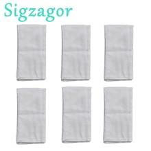 [Sigzagor] 6 Prefold Burp Cloths 기저귀 기저귀 삽입 2x3x2 Burp Cloth 100% Cotton Gauze Muslin 49x35cm 19.3x13.8in