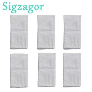 Image 1 - [Sigzagor] 6 Prefold Burp Cloths Diapers Nappies Inserts 2x3x2 Burp Cloth 100% Cotton Gauze Muslin 49x35cm 19.3x13.8in