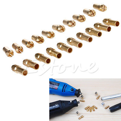 10pcs Drill Chucks Bits Brass Collet Mini Drill Chuck For Dremel Rotary Tool 4.3mm Dia 0.5mm-3.2mm Power Tool Accessory
