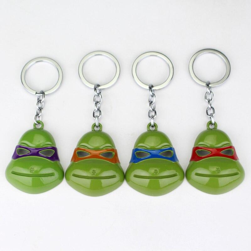 4 Colors Teenage Mutant Ninja Turtles KeyChain Keyring Fashion Movie Pendant Jewelry Key Chain Ring Gift For Men