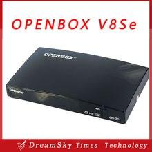 2 unids/lote V8Se Openbox Original Receptor de Satélite Digital de Salida AV USB Wifi WEB TV Biss Clave 2 xUSB Youporn CCCAMD NEWCAMD