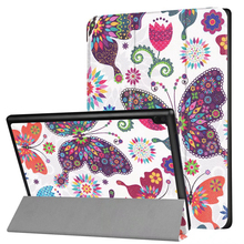 2017 Flip Printing PU Leather Magnetic Cover Case for Lenovo tab4 10 TB-X304F TB-X304N Tablet Case Cover Funda +Film+Stylus Pen