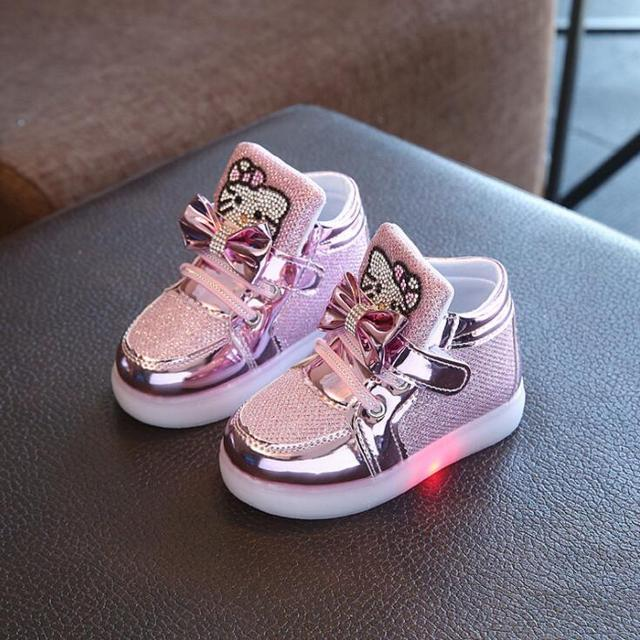 Children Casual Shoes Led Lights Female Male Child Sport Shoes Rhinestone  Outsole Spring And Autumn Martin Boots Free Shipping d59ad0e22679