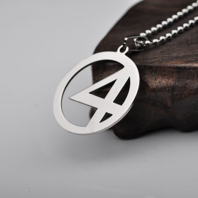 Hot Marvel Superhero Fantastic Four LOGO Necklace for Women Men Jewelry Beads Chain Stainless Steel Pendants Necklaces
