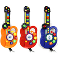 BS # S Led Guitarra Instrumento Musical Para Niños Juguetes Electrónicos Órgano DJ Etapa Estilo
