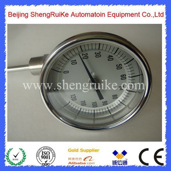 6 inch Adjustable Bimetal Thermometer remote bimetal thermometer with capillary dial 3