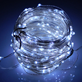 30M 300 Leds Cool White Light Silver Wire Outdoor Christmas LED String Light Starry Lights + Power Adapter (UK,US,EU,AU Plug)
