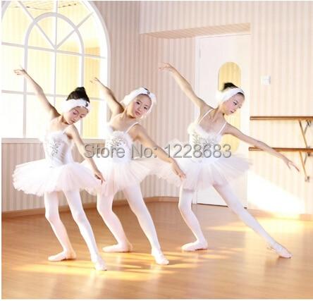 11c24941701 Hot Sale White Swan Lake Professional Ballet Tutu Dancewear Girls Dance  Costume Performance Ballet Dress For Children