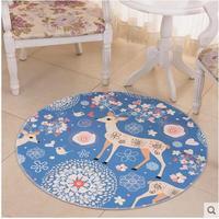 Round Cute Carpet For Living Room Bedroom Tea Table Anti Slip Mat Home Decor High Quality