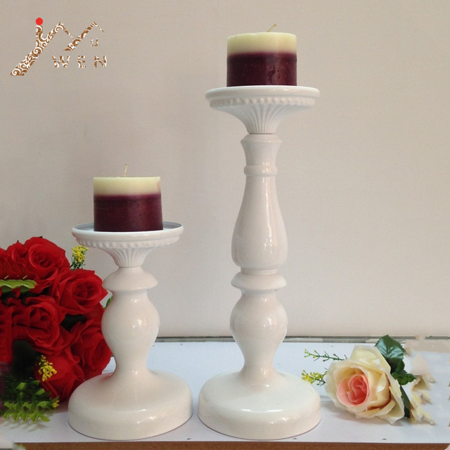 Candle Holders Metal White Candlestick Fashion Wedding Centerpieces