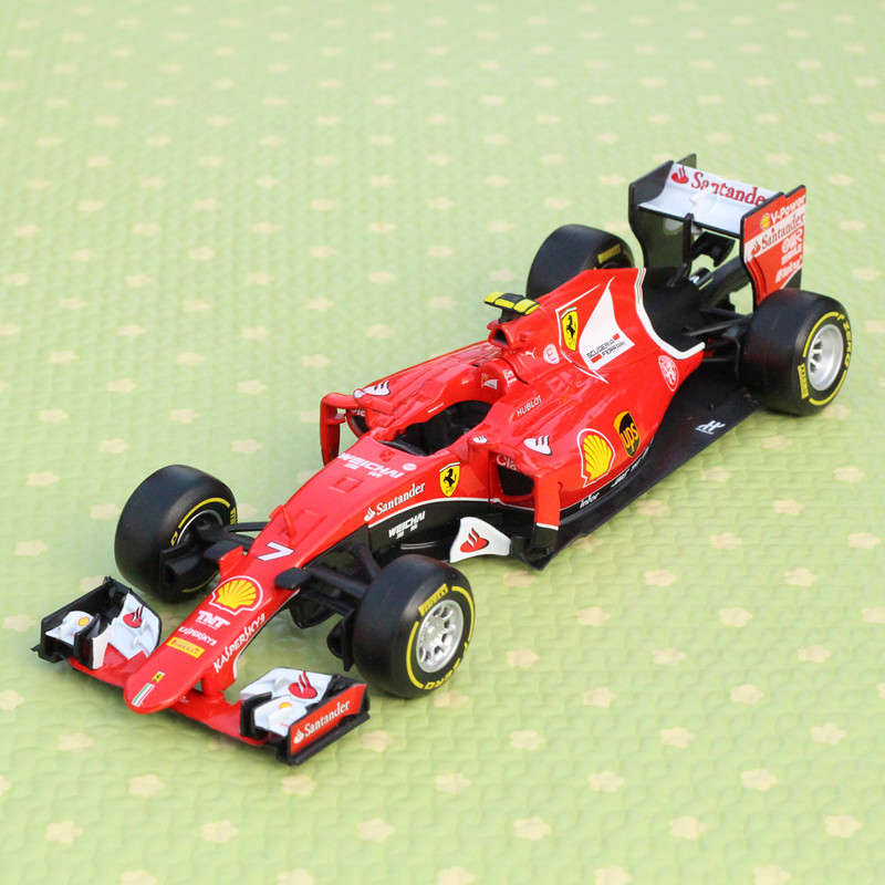 1:24 Bburago Racing Formula 1 Racing F1 Alloy Car Models Simulation NO.7 Model Collection Diecasts & Toy Vehicles Children Gifts