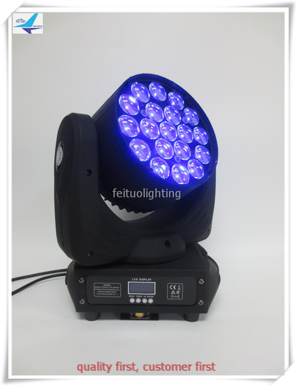 (16/lot)led wash moving head 19x10 watt lyre avec zoom led moving head light stage light