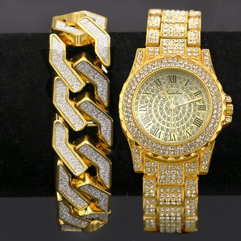 Crystal Bling Watch Glitter Geometric Bracelet Jewelry Gift