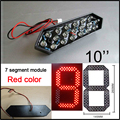 "10"" Red Color Digita Numbers Module,led Signs,7 Segment Of The Modules,high Brightness Led Chip,led Billboard,clock"
