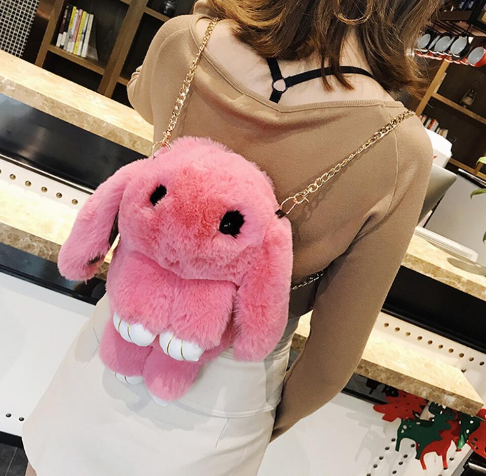 Cute Backpack For Teen Kids Mini-back Pack High Quality Soft Plush Women Backpacks Sweet School Bag Cute Chain Shoulder Bag #5