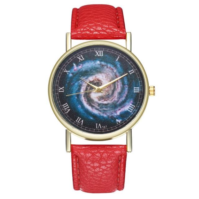 2018 New Starry Sky Student Bracelet Watch Trendy Casual Leather Strap Quartz Watch Women Dress Business Hours Clock Wrist Watch