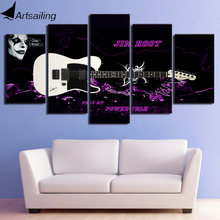 HD printed 5 piece canvas art jim root guitar poster painting wall pictures for living room decor modern free shipping NY-7082A(China)