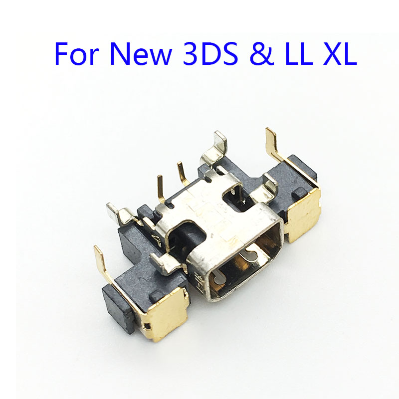 100Pcs For New 3DS XL LL Plug DC Jack Socket Power Charger Charging Connector Port For
