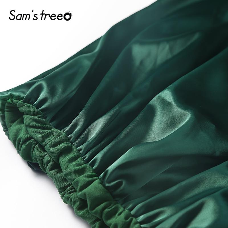 Otoño Dulce Dama Las Volantes Fondo Mujer Mujeres Green De Samstree Bud Mid Falda calf Invierno wRpd7W7qnP