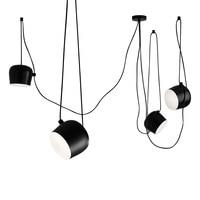 wongshi DIY Spider Black White Drum Pendant Lamp AIM Commander Industrial Office Model Room Minimalist Pendant Light