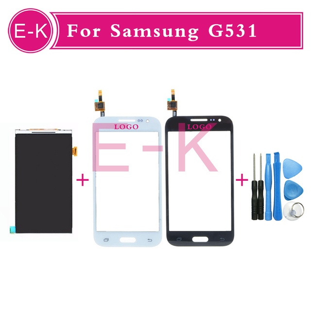 100% Original LCD Display + Touch Screen Digitizer Glass Panel + Free Tools For Sumsung Galaxy G531 Free Shipping