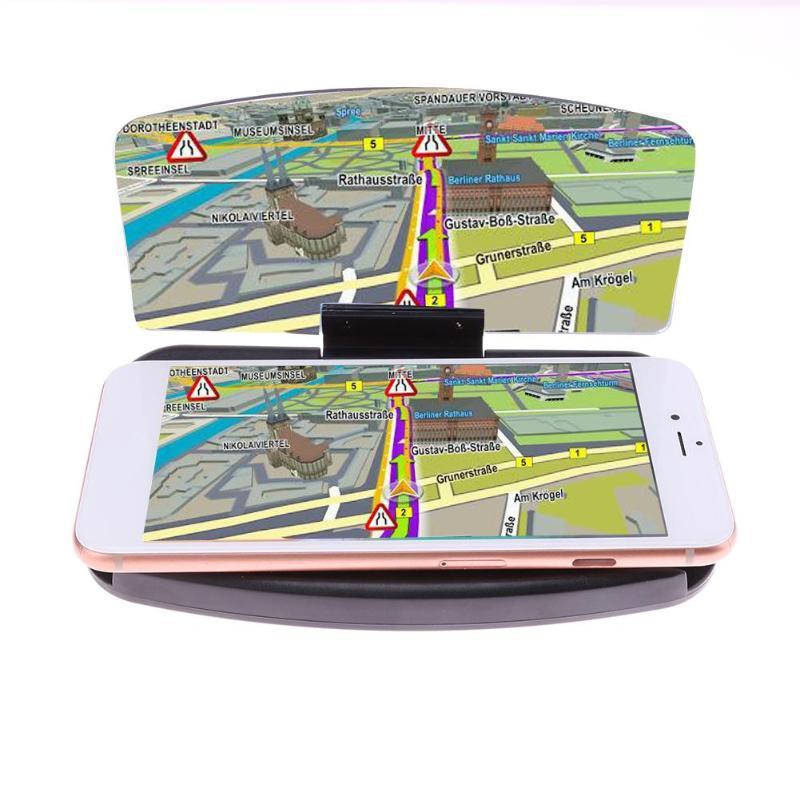 VODOOL Universal Car HUD Head Up Display Holder Auto Dashboard Phone GPS Navigation Image Reflector Projector Phone Holder Stand