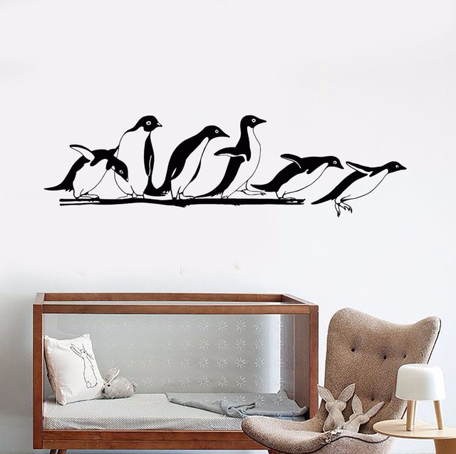 Removable Vinyl Wall Decal Antarctica Animals Home Decor Penguins Zoo Sticker Nursery Cute
