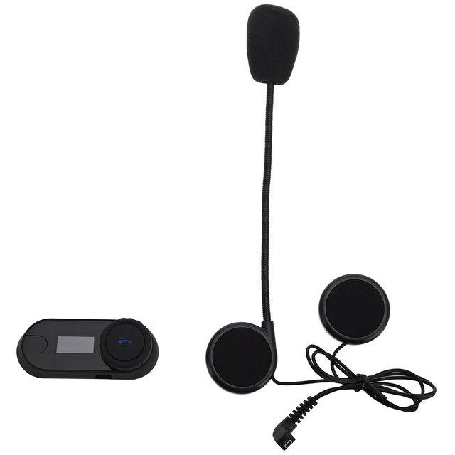 800 M Multi-función Casco Auricular Bluetooth Impermeable Motocicleta Auriculares Intercom Pantalla LED Radio FM Botón Grande UK Plug