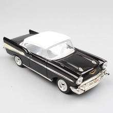 1/43 Scale road signature retro 1957 Chevrolet Bel Air Hardtop coupe car vehicle metal die cast  Replicas model toy for children 1 43 scale alloy pull back car models high simulation chevrolet bel air 1957 metal diecasts kid s toy vehicles free shipping