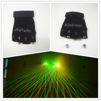 Rechargeable RG Laser Man Gloves Colorful Green Red with 2 pcs Lasers for Stage Disco Party Club Laser Show Free shipping